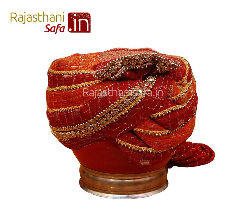 Maroon Color Stylish Wedding Turban