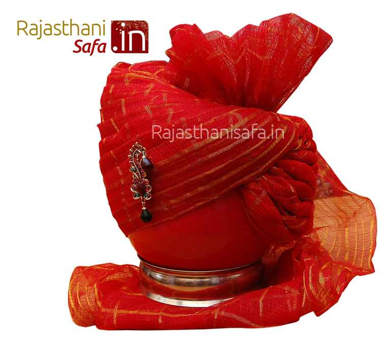 Red Color Jaipuri Stylish Wedding Safa