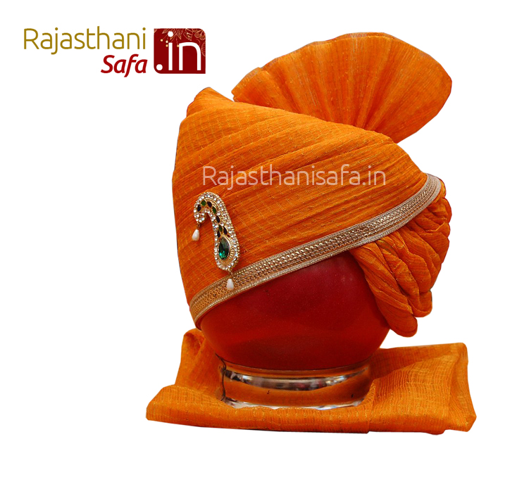 Yellow Stylish Wedding Turban